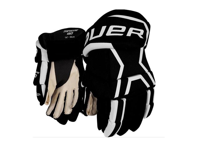 Перчатки игрока BAUER Supreme 150 чер-бел