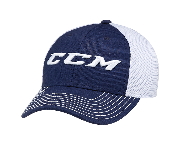 Бейсболка CCM Team Mesh Flex т-син